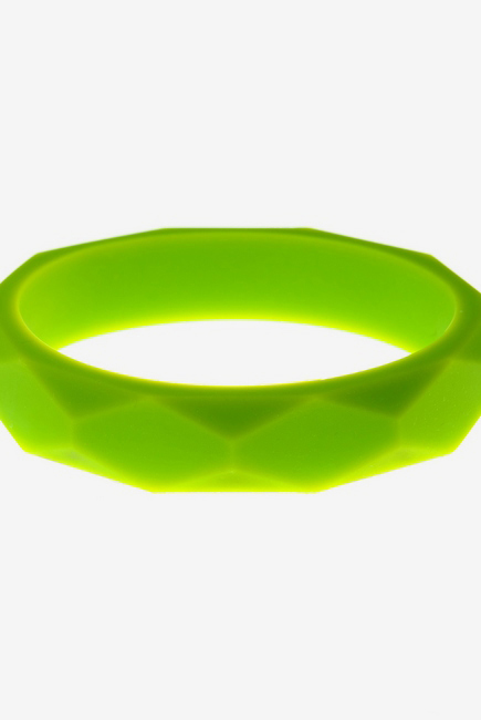 Молочный браслет из пищевого силикона, салатовый