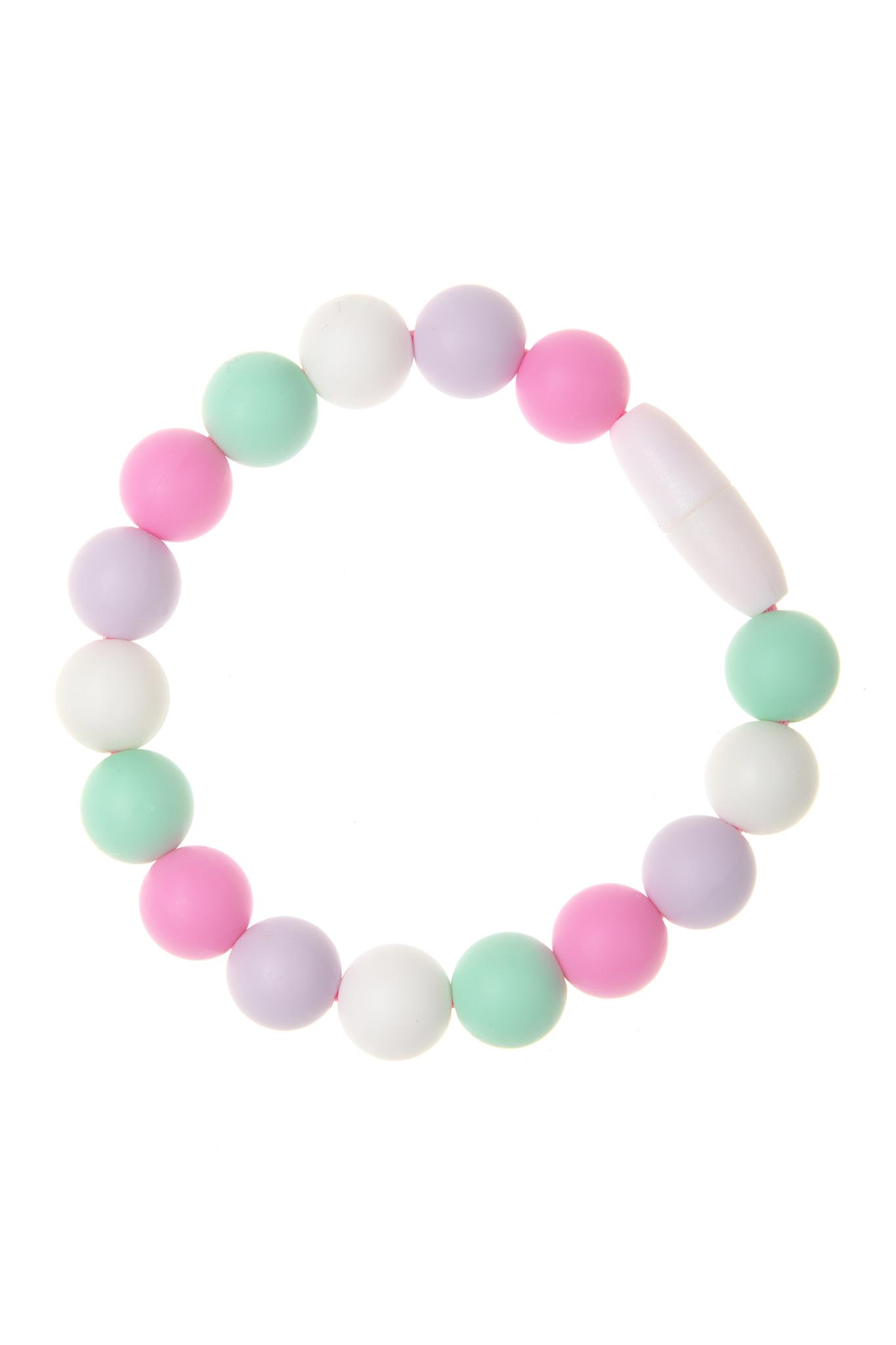 Силиконовый браслет-прорезыватель Майя, розовый