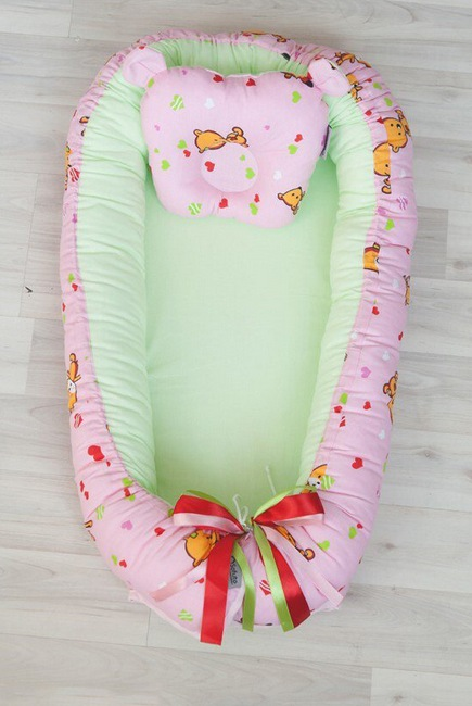 Кокон-гнездышко для новорожденных Babynest Likes Pink