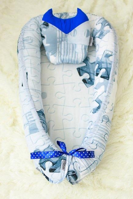 Гнездышко-кокон для новорожденных Babynest Super Man
