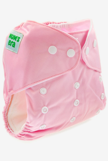 Многоразовый подгузник Mums Era, розовый (с 2 вкладышами)