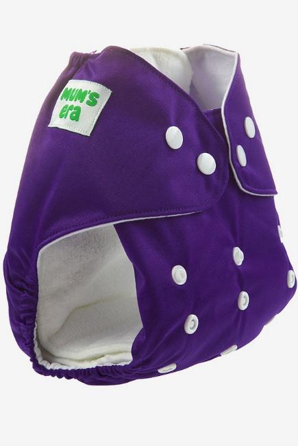 Многоразовый подгузник Mums Era, фиолетовый (с 2 вкладышами)