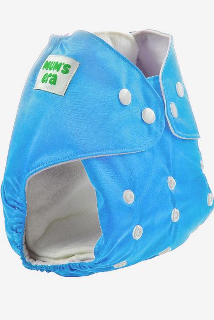Многоразовый подгузник Mums Era, голубой (с 2 вкладышами)