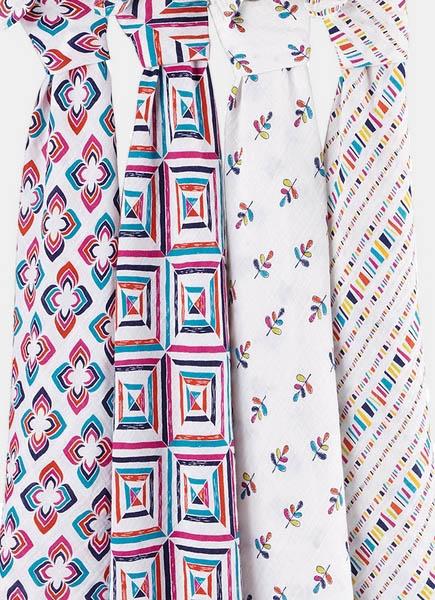 Муслиновые пеленки для новорожденных Aden&Anais, большие, набор 4, Flip-side