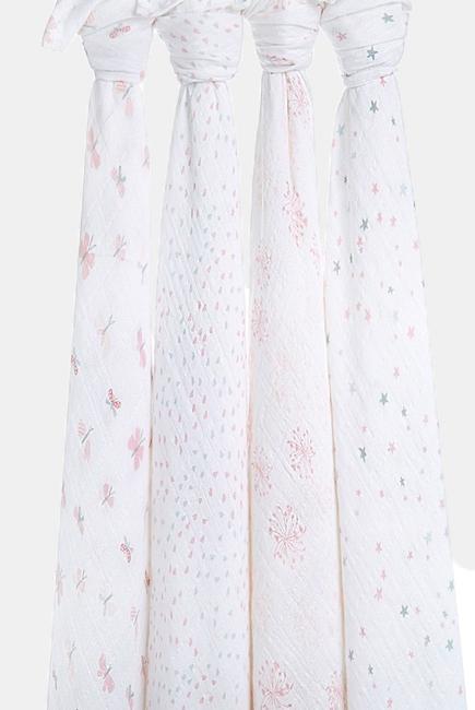 Муслиновые пеленки для новорожденных Aden&Anais, большие, набор 4, Lovely Reverie