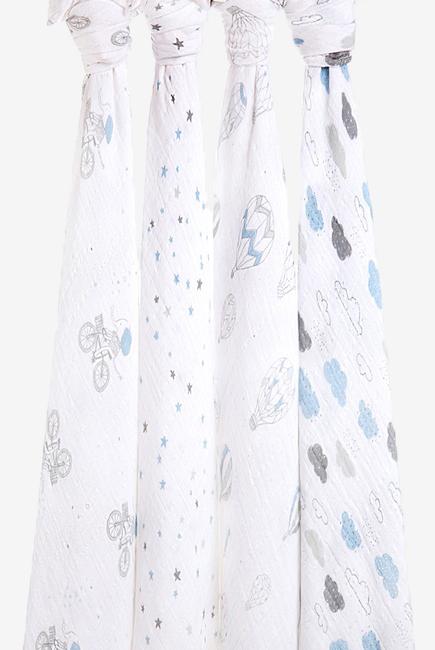 Муслиновые пеленки для новорожденных Aden&Anais, большие, набор 4 Night Sky Reverie