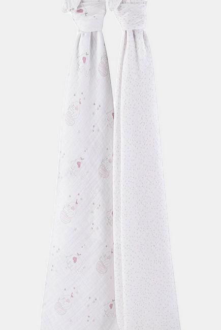 Муслиновые пеленки для новорожденных Aden&Anais большие, набор 2, Lovely