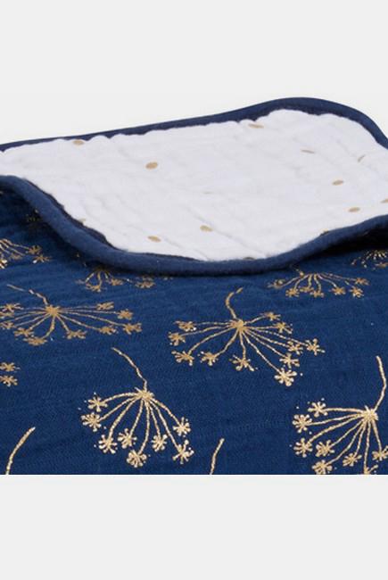Муслиновое одеяло Aden&Anais, мерцающее, Metallic Gold Deco
