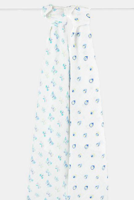 Муслиновые пеленки Aden&Anais для новорожденных большие, набор 2, Mariposa