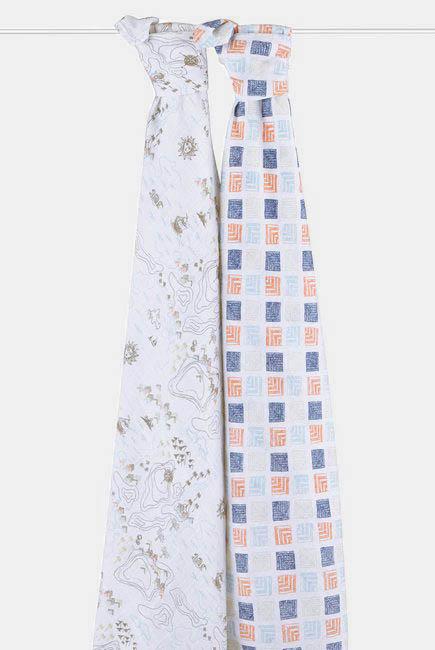 Муслиновые пеленки Aden&Anais для новорожденных большие, набор 2, Warrior Finn
