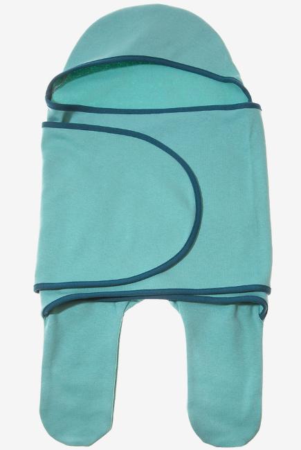 Пеленка кокон для новорожденных (комбинезон-конверт), васаби