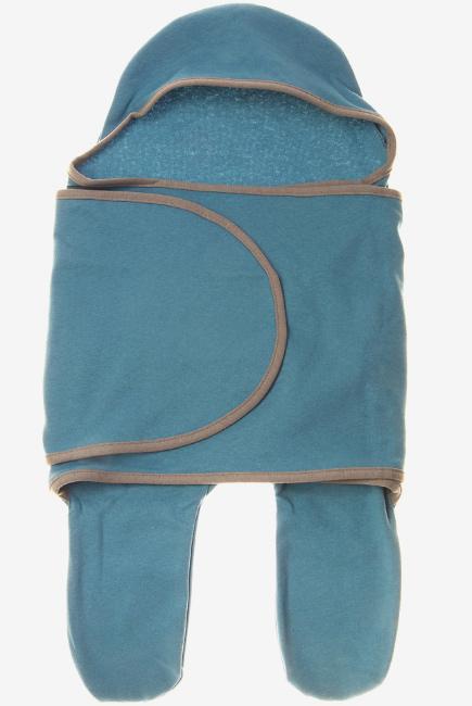 Пеленка кокон для новорожденных (комбинезон-конверт), адриатик