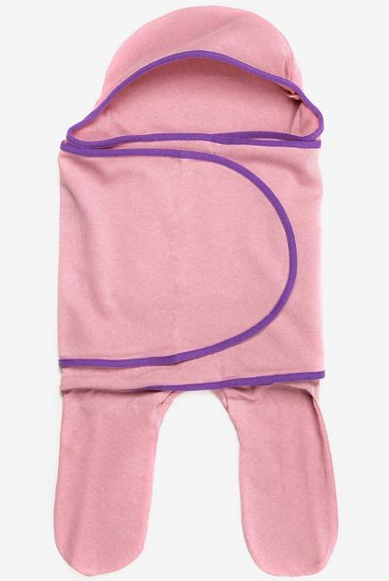 Пеленка кокон для новорожденных (комбинезон-конверт), коралл