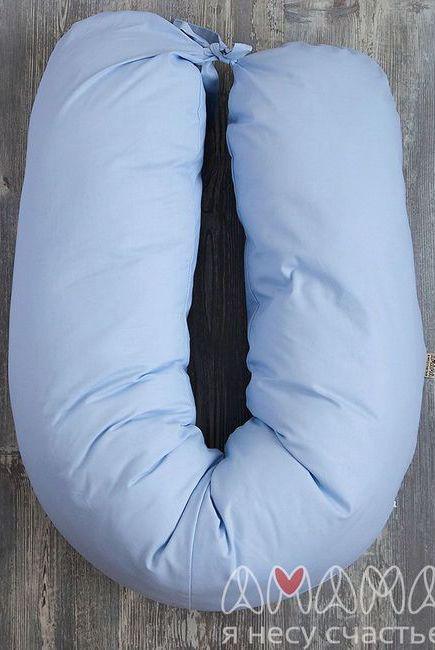 """Подушка для беременных и кормящих """"Лёгкая на подъём"""" 170см, голубой"""