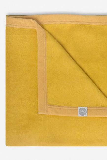Плед для новорожденных, цвет желтый