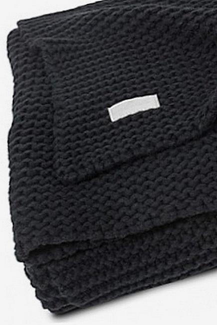 Вязаный плед для новорожденных Jollein Heavy, черный