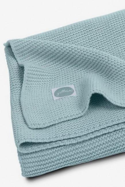 Вязаный плед для новорожденных Jollein Basic, серо-зеленый