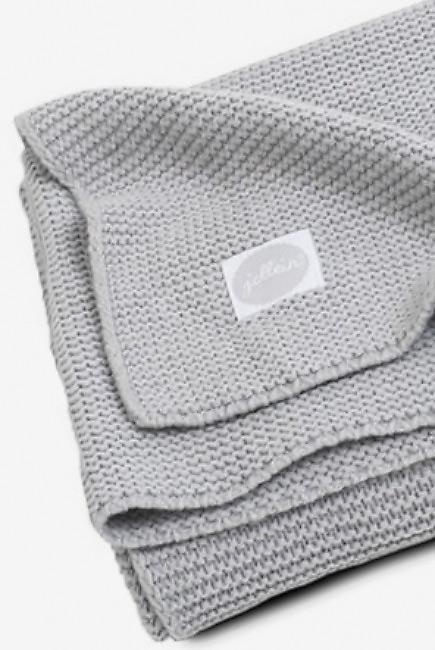 Вязаный плед для новорожденных Jollein Basic Knit, серый, большой