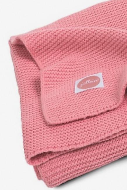 Вязаный плед для новорожденных Jollein Basic Knit, коралл, большой