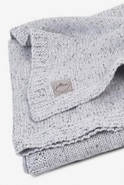 Вязаный плед для новорожденного Jollein Confetti, серый, большой