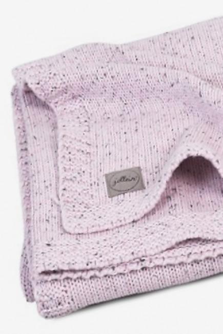 Вязаный плед для новорожденного Jollein Confetti, розовый, большой