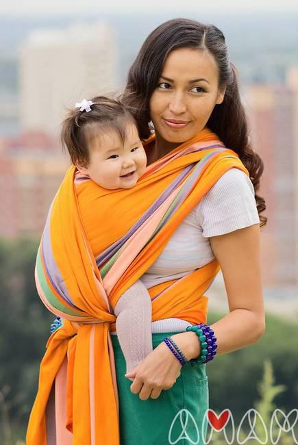 Слинг-шарф «Табатай» Амама, разноцветный полосатый