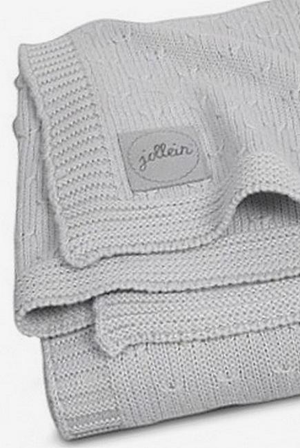 Вязаный плед для новорожденных Jollein Soft, серый