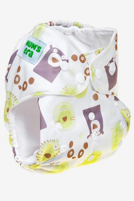 Многоразовый памперс (подгузник) Mums Era, Медведи белый (с 1 вкладышем)
