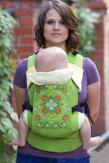 Эрго-рюкзак Etno, зеленый