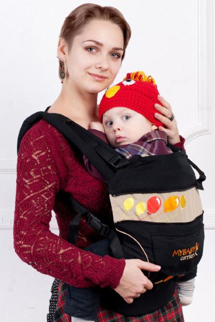 Эрго-рюкзак My Baby Style, черный