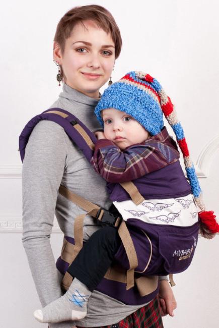 Эрго-рюкзак My Baby Style, фиолетовый