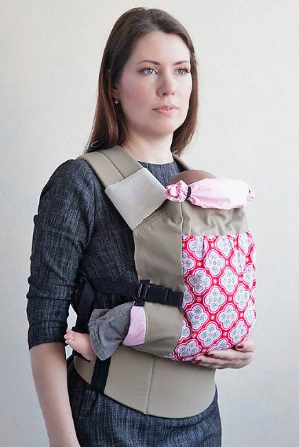 Эрго-рюкзак Light, розовые цветы