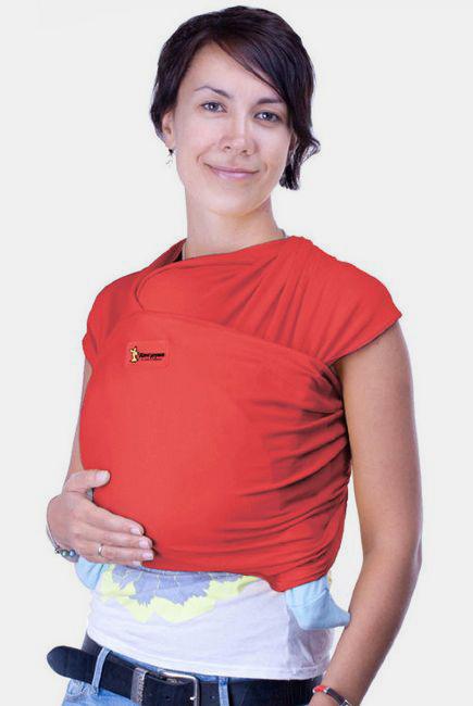 Трикотажный слинг-шарф Кенгуруша Classic, цвет коралл