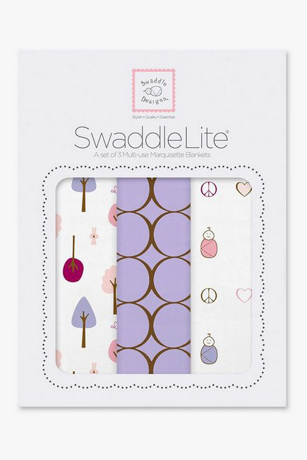 Набор пеленок SwaddleDesigns Swaddle Lite Cute & Calm Lavender