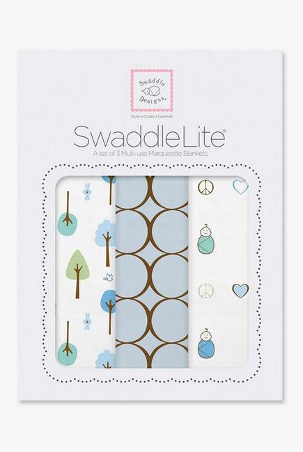 Набор пеленок SwaddleDesigns - SwaddleLite Cute & Calm Pastel Blue