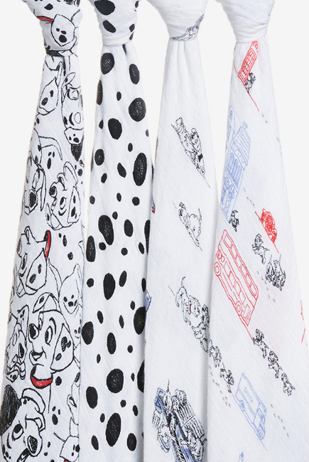 Муслиновые пеленки Aden&Anais для новорожденных большие, набор 4, Disney Dalmatians