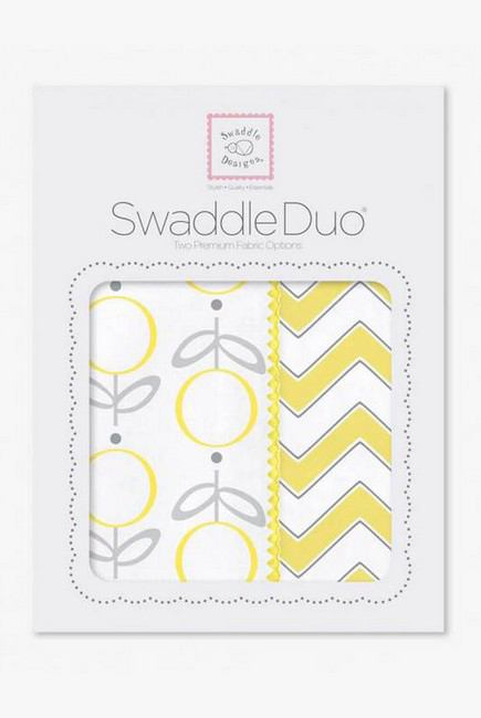Набор пеленок SwaddleDesigns - Swaddle Duo, Lolli Chevron Yellow