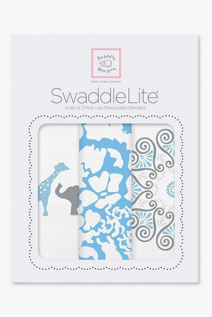 Набор пеленок SwaddleDesigns Swaddle Lite, PB Elephant/Chickies