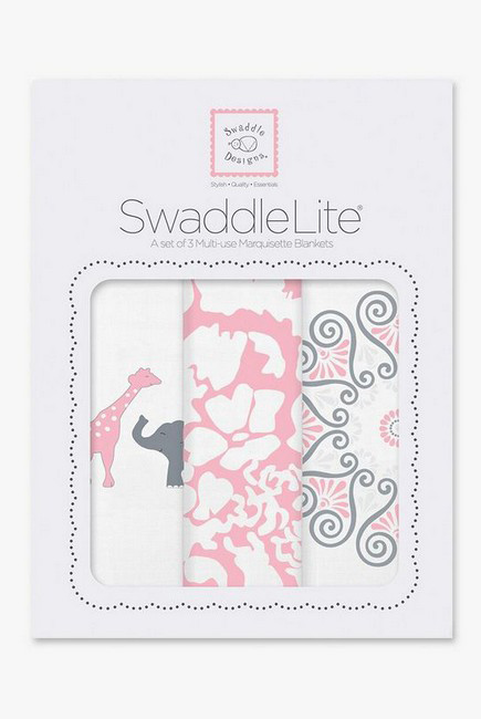 Набор пеленок SwaddleDesigns - Swaddle Lite, PP Elephant/Chickies
