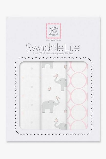 Набор пеленок SwaddleDesigns - Swaddle Lite, PP Elephant/Chickies