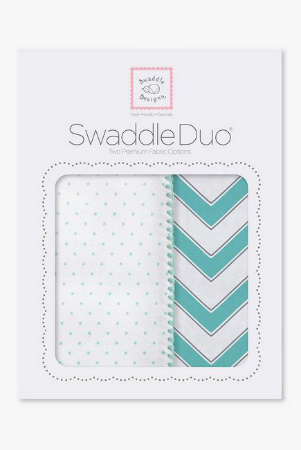 Набор пеленок SwaddleDesigns Swaddle Duo SC Classic Chevron