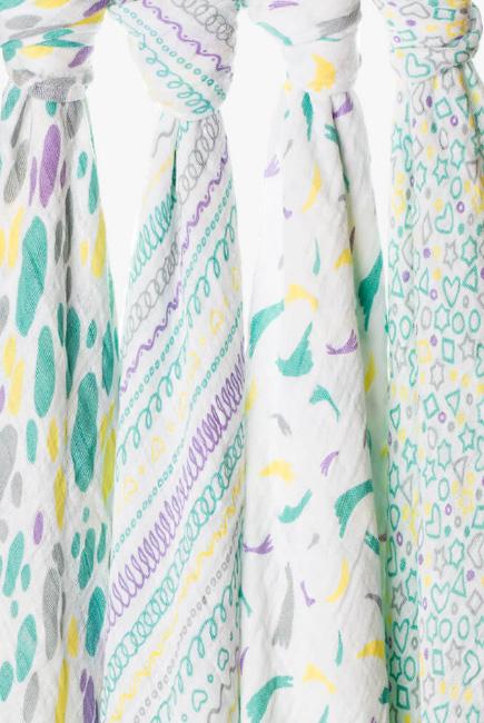 Муслиновые пеленки для новорожденных Adam Stork большие, набор 4, Sweetie
