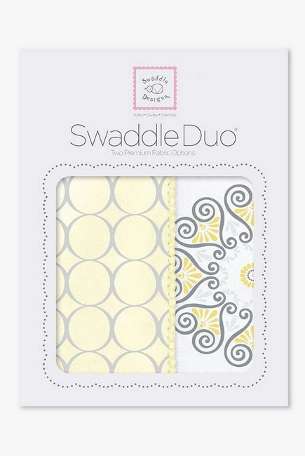 Набор пеленок SwaddleDesigns Swaddle Duo Yellow Mod Medallion
