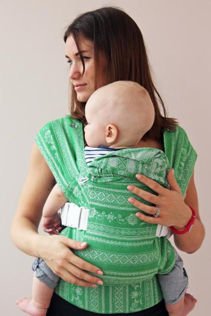 Эрго-рюкзак шарфовый с бамбуком Карауш, Mint