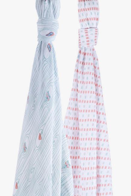 Муслиновые пеленки для новорожденного Bébé au Lait большие, Owl/Tinsley