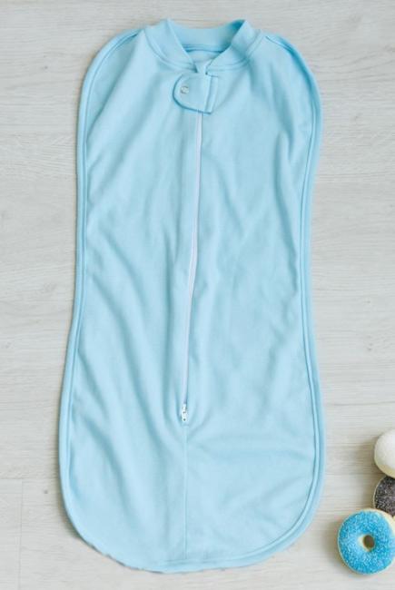 Детская пеленка-кокон трикотажная, Light Blue