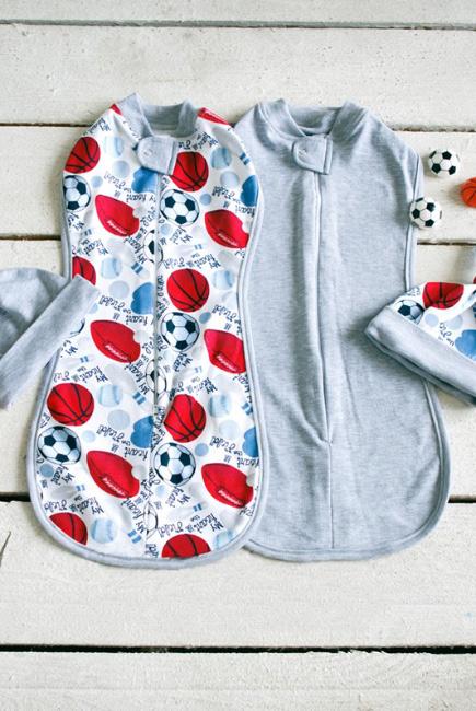 Комплект пеленок-коконов для новорожденных, Football