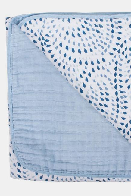 Одеяло из муслина Bebe au Lait, цвет Serenity and Sky
