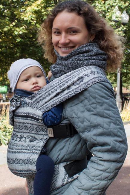 Эрго рюкзак шарфовый с бамбуком Карауш растущий, Elegance