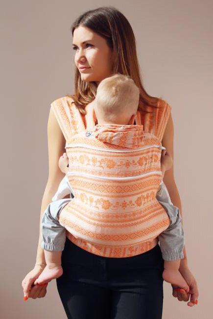 Эрго рюкзак шарфовый с бамбуком Karaush растущий, Orange